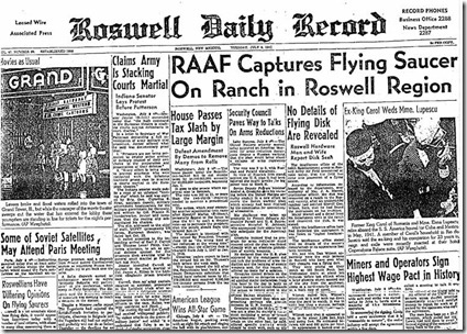 ufo jornal thumb Incidente de Roswell, o caso mais intrigante da Ufologia