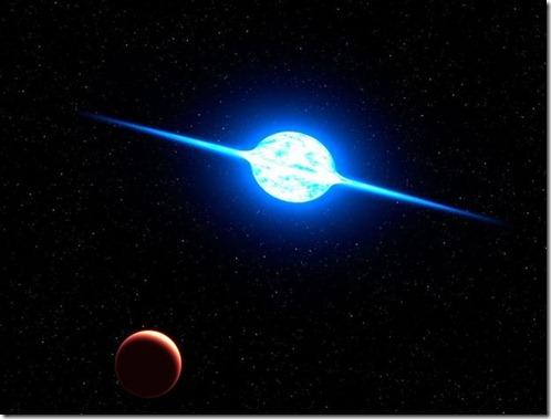 vfts 102 thumb Estrela gira a mais de 2 mi de km por hora