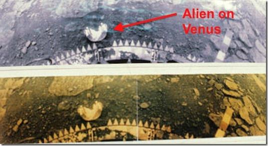 venus alien thumb Vida foi encontrada em Vênus, diz cientista russo