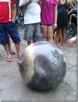 bola metalica maranhao thumb Bola metálica assusta moradores no Maranhão