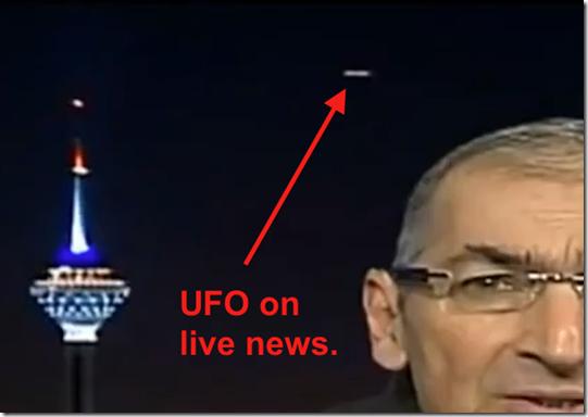 ufo ira aovivo thumb UFO aparece em transmissão ao vivo no Irã