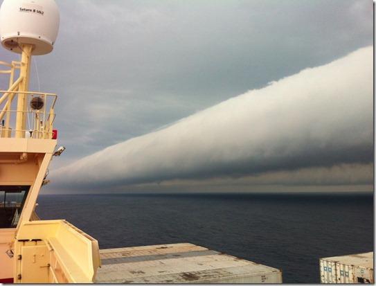 nuvem tubular brasil thumb Foto: Nuvem tubular gigante no Brasil