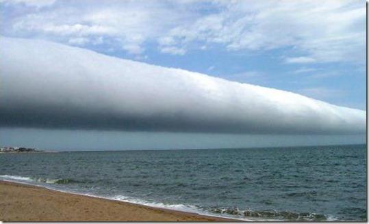 nuvem tubular uruguai thumb Foto: Nuvem tubular gigante no Brasil
