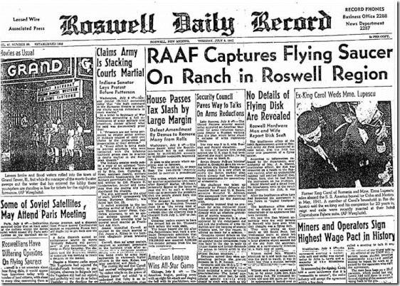 jornal ufo thumb Caso Roswell: 66 anos de perguntas sem respostas