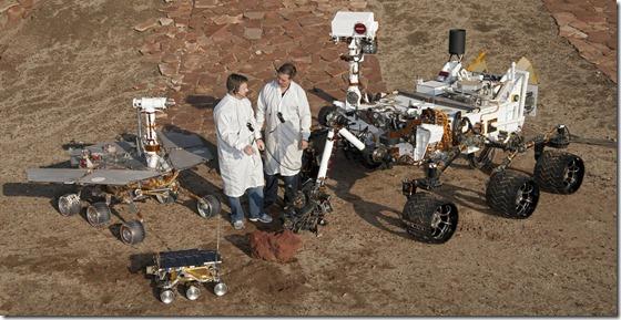 robos nasa thumb Próximo rover da NASA será lançado para Marte em 2020