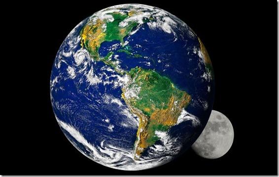 terra lua thumb Será que a Terra já teve duas luas?