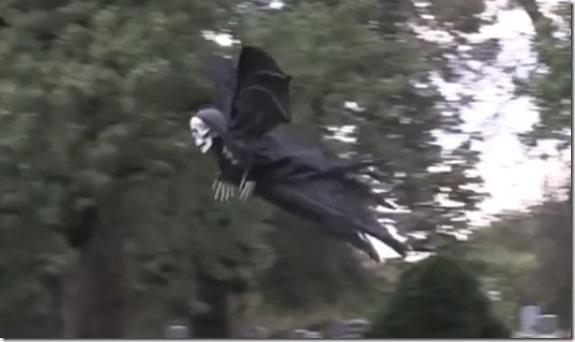 ceifador thumb Ceifador voador persegue pessoas num parque