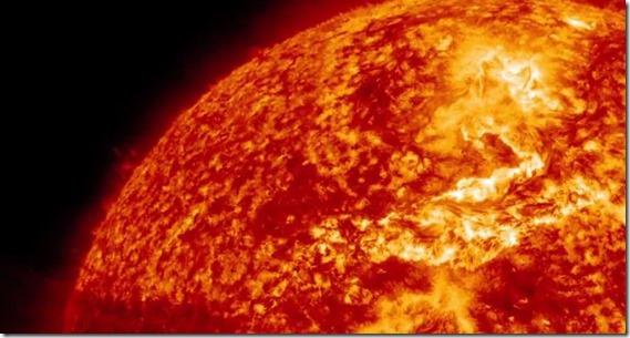 fogo sol thumb NASA captura canyon de fogo na superfície do Sol