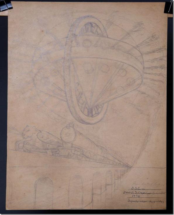 crazybox5 thumb Caixa misteriosa encontrada no lixo revela desenhos de OVNIs, extraterrestres e seres alados
