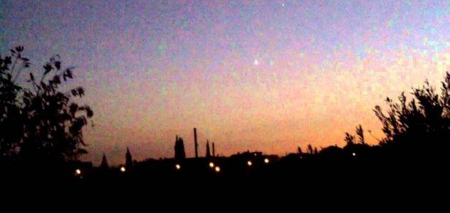 ovni chipre OVNI brilhante filmado sobre o Chipre