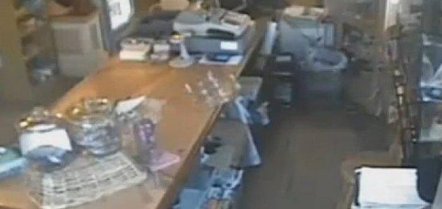 fantasma loja Atividade paranormal filmado dentro de loja