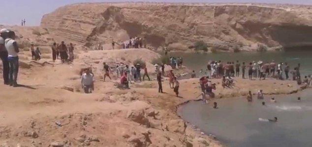 lago tunisia Lago misterioso aparece no deserto da Tunísia